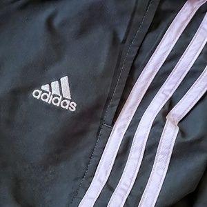 Adidas Nylon Warm Up Track Pants. Navy/Purple